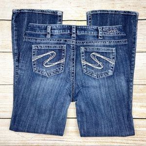 SILVER JEANS Blue Aiko Bootcut Leg Jeans